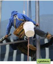 Mytí oken pudinkem